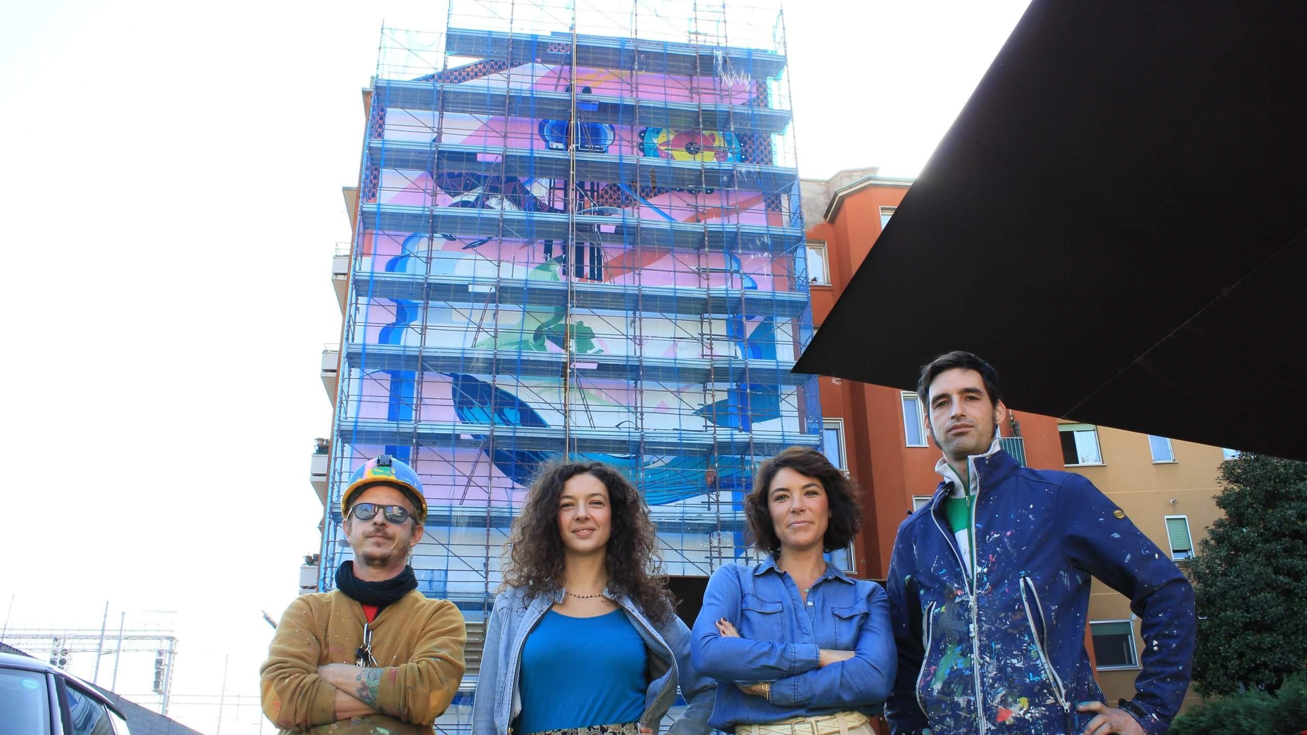 Anthropoceano: il murale mangia-smog a Milano Lambrate